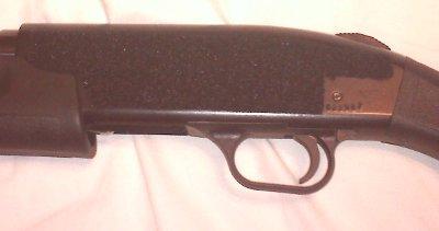 fuzzy velcro on shotgun receiver